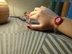 Bracelet brodé rose