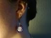 Boucles d'oreilles brodées violettes