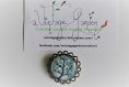 Broche tree of life black and white