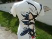 T-shirt romantique cache-cœur, taille s