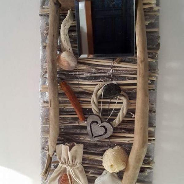 Decoration en bois flotte pour salle de bains : decoration-murale ...