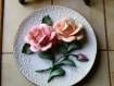 Assiette décorative the roses of capidomonte limit ed plate franklin mint heirloom bisque porcelaine