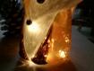 Jolie veilleuse renard en verre peint à led hauteur=14cm nomade elle accompagne les enfants dans les rêves et les activités, personnalisable