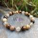 Bracelet vitalité et protection en oeil de tigre, jaspe paysage et quartz rutile