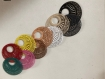 Créoles dentelle en resine avec anneau en couleur