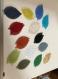 Boucles d'oreilles pendantes avec feuille couleur personnalisable