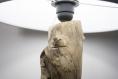 Lampe de table / lampe en bois de cyprès / abat-jour textile gris / branche d'arbre / pied en ciment / 220v