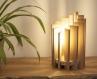 Circa / lampe de table / lampe de chevet / lampe en bois exotique et pin / cercle / ronde / 220v e14 / eclairage indirect / lampe de salon
