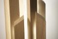 Skyline / lampe de table / lampe en bois / chêne  / hévéa /  bandeau led / Éclairage indirect / design / minimaliste / lampe décorative