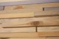 Cadre parement de bois tableau, art mural, sculpture 3d, lamelles, mosaïque de bois bleu, décor mural, bois palette récupéré