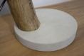 Lampe de table / lampe en bois / cyprès/  ampoule edison / led / 2000k / Éclairage indirect chaud / design / branche d'arbre / pied ciment