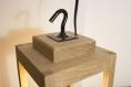 Lampe en bois / lampe de table / suspension / lanterne / lustre / châtaigner / ampoule led vintage / edison / eclairage indirect chaud 2000k