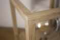 Lampe de table / lampe en bois / chêne /  ampoule edison / led / 1800k / Éclairage indirect chaud / design / minimaliste / cube / lanterne
