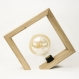 Géo / lampe de table / lampe en bois de chêne massif / design minimaliste carré / ampoule led edison / eclairage chaud 2200k / onglet