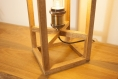 Lampe de table / lampe en bois exotique / ampoule tube led / eclairage indirect chaud 1800k / type edison vintage / design fil de fer
