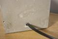 Lampe de table décorative / lampe en ciment et bois / chêne et ciment / ampoule led vintage / type edison / eclairage indirect chaud / cube