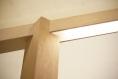 Grue / lampe de bureau / lampe de table ou chevet / lampe en bois de chêne et hévéa / ruban led / design minimaliste / contemporain / 220v