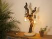 Lampe de table / lampe en bois / pied ciment / branche / vigne / cep /  ampoule edison / led / 1800k / Éclairage indirect chaud / design