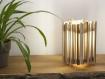 Lampe de chevet en bois / lampe de table / Éclairage indirect / bois / chêne / châtaigner / pin / noyer / design / contemporain / 230 v