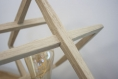 Lampe de table / lampe en bois de chêne / design minimaliste cadres imbriqués / ampoule led edison / pied en bois d'hévéa / fait à la main