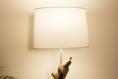 Lampe de table / lampe en bois / cyprès /  pied ciment / abat-jour / Éclairage indirect chaud / design / naturel / 220v
