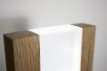 Lampe de table décorative / lampe en bois / chêne etbois exotique /  ruban led / Éclairage indirect / design minimaliste / résine dépolie