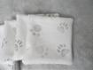 Panier et lingettes en tissus fait main en coton motif pâtes d'animaux blanc gris