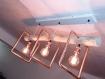 Lustre en bois flotté, suspension luminaire en bois flotté, lampe suspendue contemporaine, lampe de plafond, éclairage en bois de pendentif