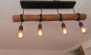 Lustre en bois flotté, suspension luminaire en bois, lampe suspendue contemporaine, lampe de plafond, éclairage en bois de pendentif