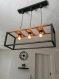 Lustre en bois, suspension luminaire en bois, lampe suspendue contemporaine, lampe de plafond, éclairage en bois de pendentif