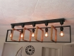 Lustre en bois, suspension luminaire en bois, lampe suspendue contemporaine, lampe de plafond, éclairage en bois de pendentif, artisanal