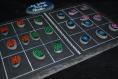 Duo jeu de morpions original - deco petits points -galets peints