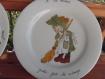 Assiettes porcelaine peintes à la main