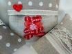 Sachet lavande: 3 mini coussins déhoussables remplis de lavande - ours chic