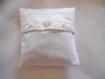 Lavande : 3 mini coussins parfumés et déhoussables esprit shabby chic tons blanc/beige/lin (18-0801)