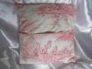 Housse de coussin 40 x 40 cm toile de jouy rose -esprit charme chic - décoration scènes romantiques