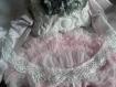 Col blanc de crochet coton ancien lcv