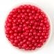 50 perles 6mm imitation brillant couleur rouge creation bijoux, bracelet