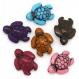 Lot 10 perle tortue acrilique 18mm x 15mm tortues souriante, creation bijoux ...