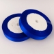 1 rouleau ruban satin bleu 25mm rouleau de 22m environ pour vos creation