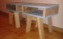 Tables de chevet en bois de palettes recyclées (lot de 2)