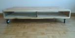 Grande table basse en bois de palettes recyclées