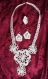 Parure de bijoux en coton blanc