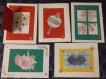 Lot de 5 cartes de voeux
