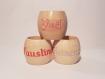 Lot de 3 ronds de serviette de notre enfance en bois de pin, personnalisés avec une calligraphie gravée, le tout fait main