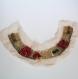 Parement encolure perlée tubes argent, perles tibetaine, corail à coudre sur tunique
