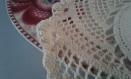 Napperon beige au crochet