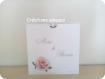 Faire-part mariage pochette 'la vie en rose'