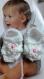 Jarakimini/layette fait-main petits prix/fait-maison/ sandales blanches taille naissance à 1 mois fait main au crochet @ jarakymini