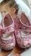 Jarakymini/ungrandmarchÉ/ layette fait main/ chaussures bÉbÉs filles fleurie liberty t 6 À 9 mois -50%